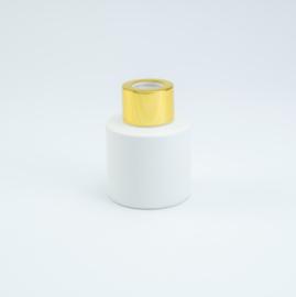 Huisparfum wit met goud dop