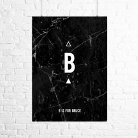 Poster marmer zwart
