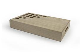 Dienblad voor tubes hout