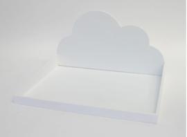 Presentatieplateau wolk wit