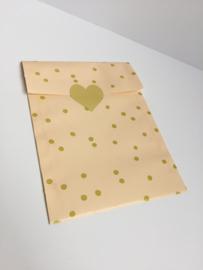 Stickers goud hart groot