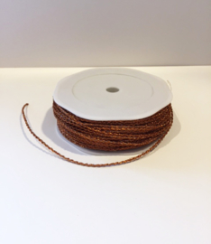 Lint 2mm metallic glitter brons koper