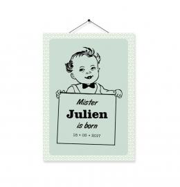 Kaartje Julien babyboy