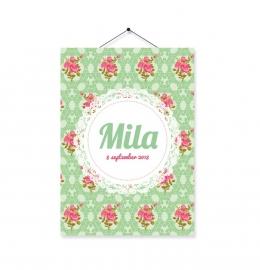 Kaartje Mila bloem