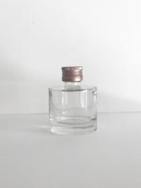Flesje met rosé dop