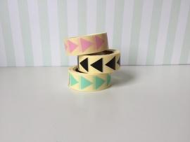Stickers driehoekje roze klein