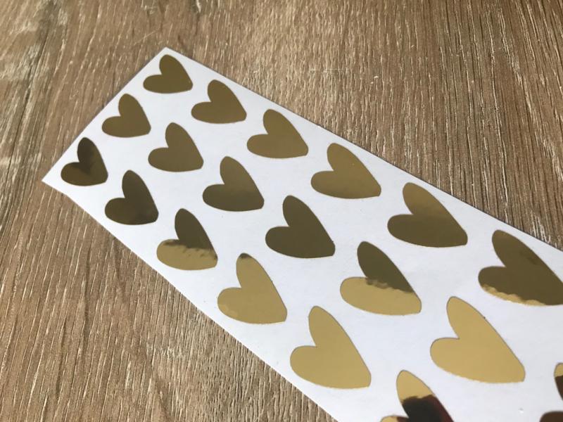 Stickers hartjes goud