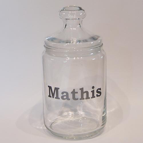 Glazen voorraadpot 1L