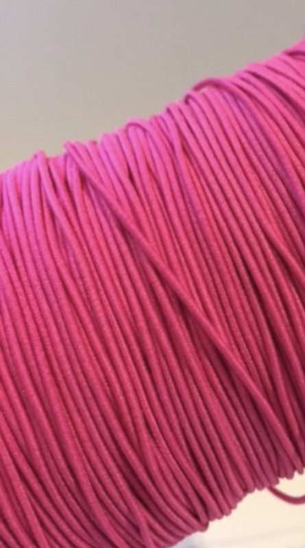 Roze rekkoord/verkocht per meter