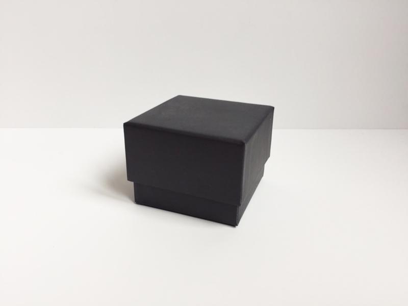 Doosje vierkant zwart