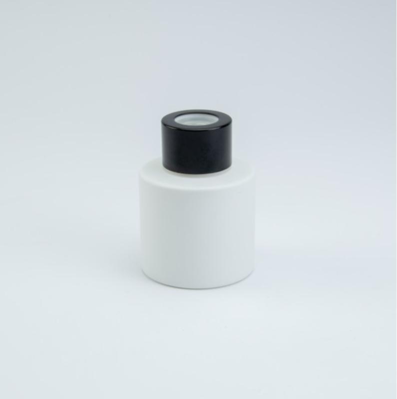 Huisparfum wit met zwarte dop