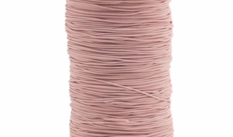 Licht roze rekkoord/verkocht per meter