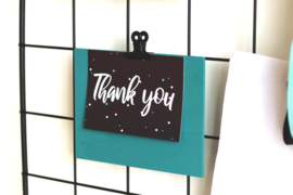 Klembord met losse klem - Turquoise