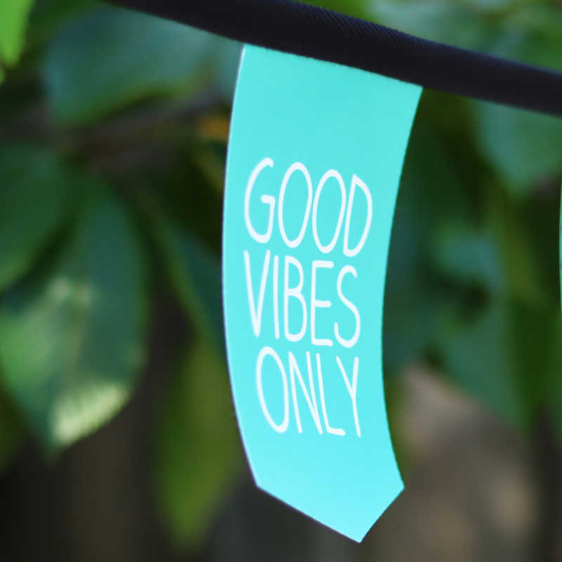 Tuinslinger - Good vibes only (turquoise)