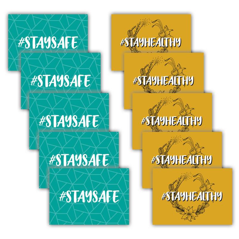 #staysafe + #stayhealthy (set van 10 stuks)