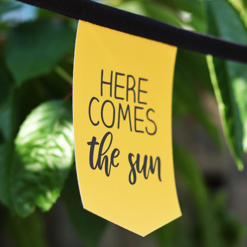 Tuinslinger - Here comes the sun (oker)