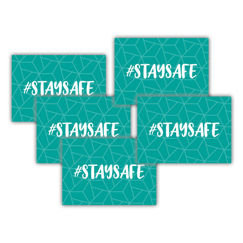 #staysafe (set van 5 stuks)