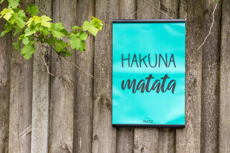 Tuinposter - Hakuna Matata - Klein (40x60cm) - met klemmen