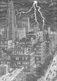 Lightning across the City