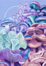 Purple Mushroom Paradise  - fine art print