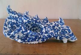Monsterschedel in blauw en wit