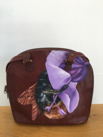 Handpainted Bag - Bij in bloem