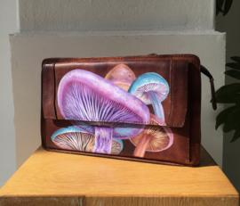 Handpainted Bag - Mushrooms