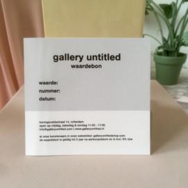 Gallery Untitled Waardebon