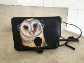 Handpainted Bag -  Uil (small)