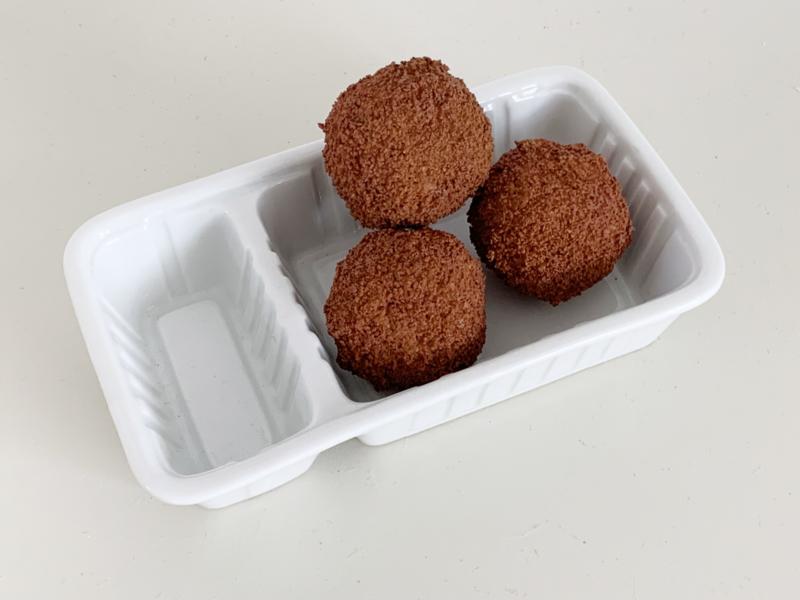 Bitterbal (set van 3 inclusief porseleinen bakje)