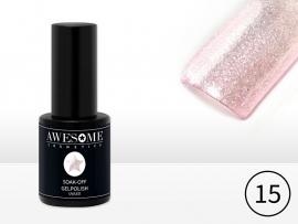 #15 Roze - transp. glitter