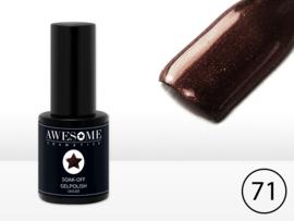 # 71 Chocolade-Bruin-Fijne Glitter