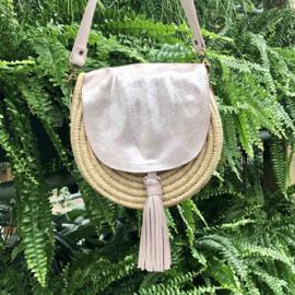 Roundie bag  Nora  Metallic pink