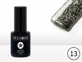 #13 Zwart - grove glitter