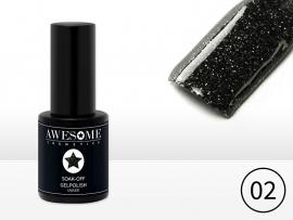 #02 Zwart - fijne glitter