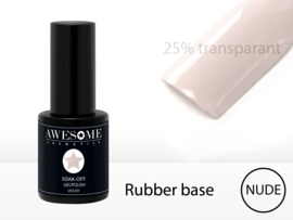 Rubber Base Nude 25% Transparant