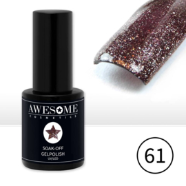 # 61 Taupe-Brons-Paars glitter