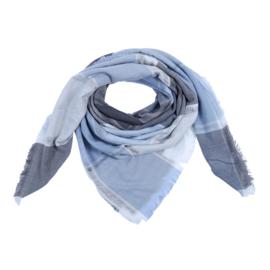 Geruite Shawl Blauw