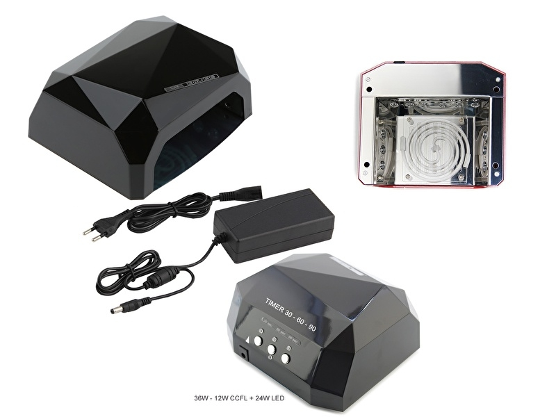 36Watt LED/UV lamp - Zwart