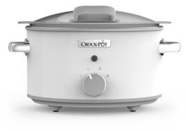 Crock-Pot slowcooker 4,5 ltr Duraceramic - wit - met scharnierend deksel