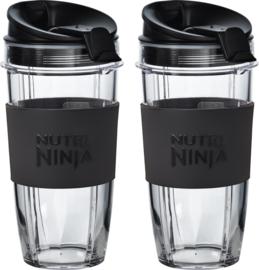 Nutri Ninja , 2 x 650 ML cup geschikt voor alle Ninja Auto-IQ apparaten