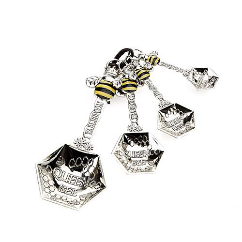 Set van 4 maatlepels met bijen