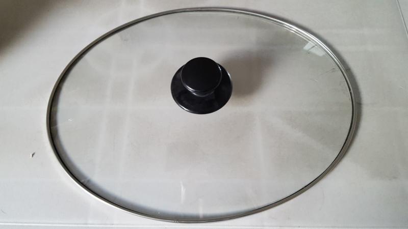 Andrew James glazen deksel ovaal 1,5 ltr