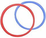 InstantPot Mini 3 ltr siliconen ringen 2-pack - rood / blauw