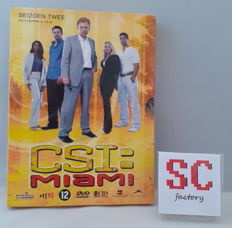 CSI Miami (Crime Scene Investigation) Seizoen 2 Deel 1 (Afl. 1-12) - Dvd box