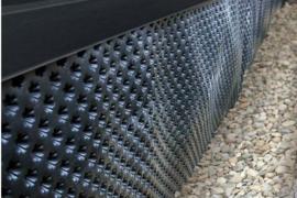 Buitenzijde funderingsmuur waterdicht tegen vocht