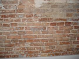 Natte plekken op de muur.