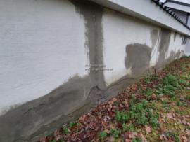 schade aan stucwerk door spatwater