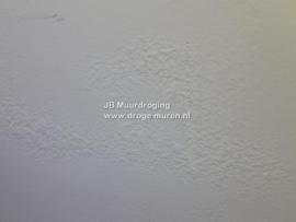 blaasjes op recent gestucte muur