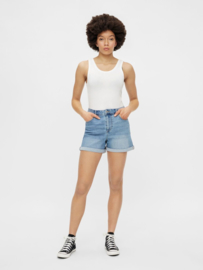 Pacy high waisted denim shorts, Pieces